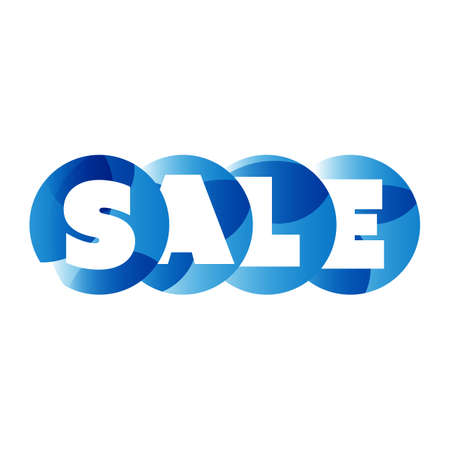 color separation: Sale Word Label, Banner, Letters On Circular Shapes - Web Icon, Button or Message for Web Site Design, Presentation or Application
