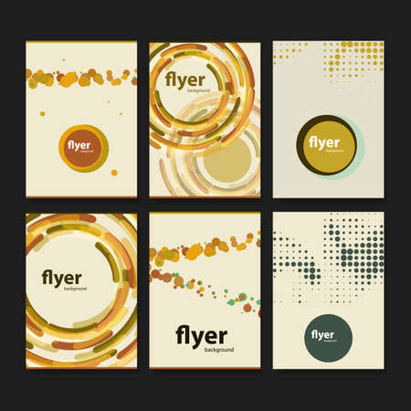 fading: Set of Creative Card, Flyer or Cover Designs with Abstract Backgrounds