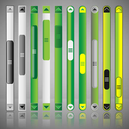 scrolling: Vector Scroll Bar Set for Web Template