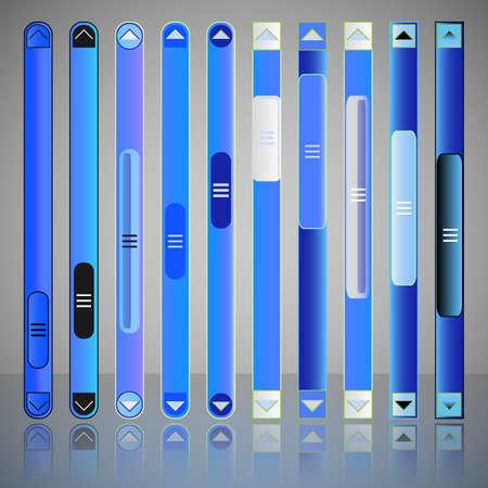 schriftrolle: Vector Scroll Bar-Set für Web-Template- Illustration