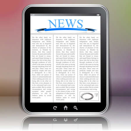 online news: Online News Concept with Tablet PC