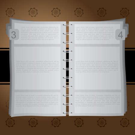 binder: Open Notebook with Ring Binder