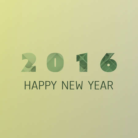 card design: Simple Colorful New Year Card, Cover or Background Design Template - 2016