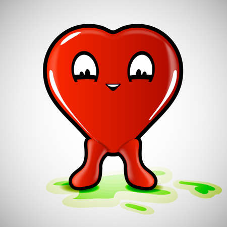 friendliness: Funny Heart Background