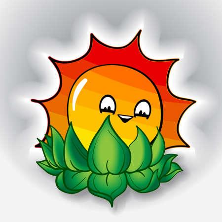 smiling sun: Smiling Sun Design Illustration