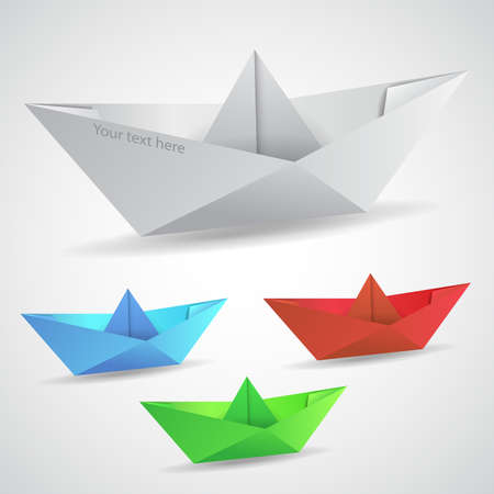 Collection of Paper Boats Clip-art