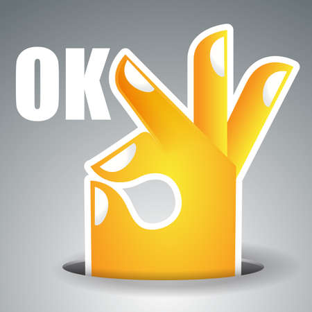 ok button: Okay - Hand Design
