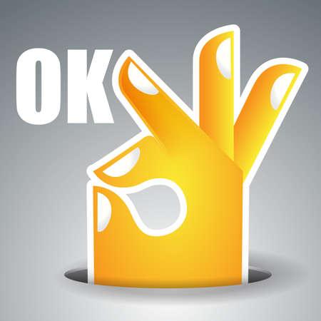 ok button: Okay - Hand Design