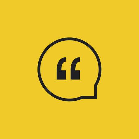 Citaat van Vector pictogram op een gele achtergrond