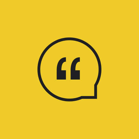 blogs: Quote Vector Icon on a Yellow Background