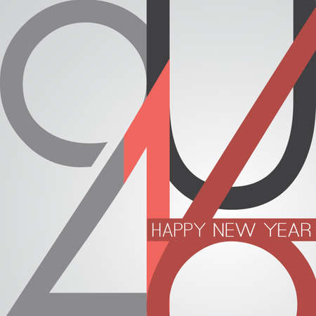 event: Best Wishes - Abstract Retro Style Happy New Year Greeting Card or Background, Creative Design Template - 2016