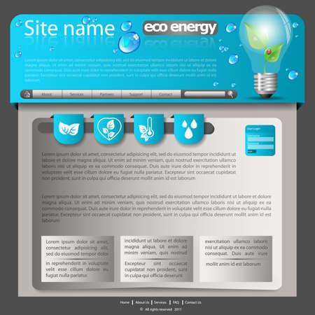 website template: Eco Website Template Illustration