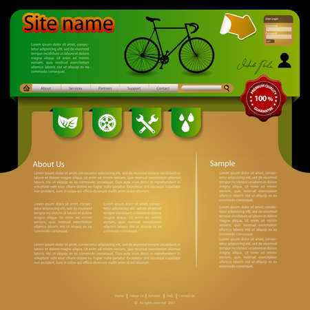 healty lifestyle: Website Template