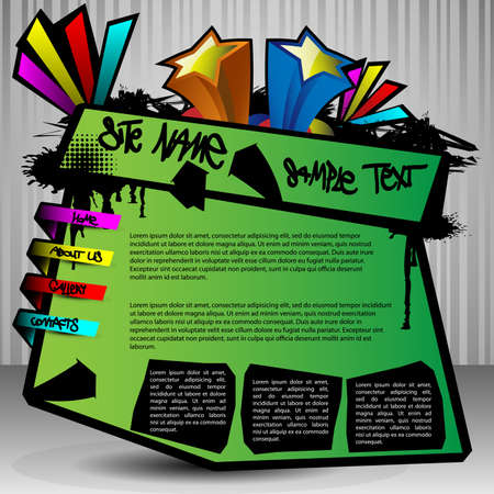 website template: Website Template Vector