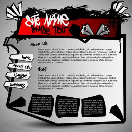 website design: Website Template Vector