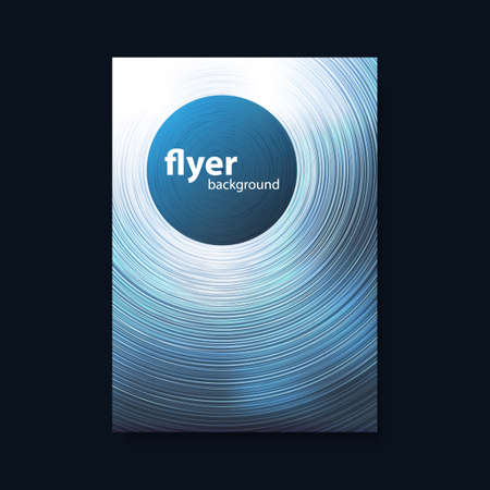 pamphlet: Flyer or Cover Design with Blue Blurred Background and Circles Illustration