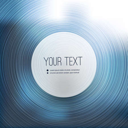 concentric: Abstract Concentric Circles Background Vector with Label in the Center for Your Text
