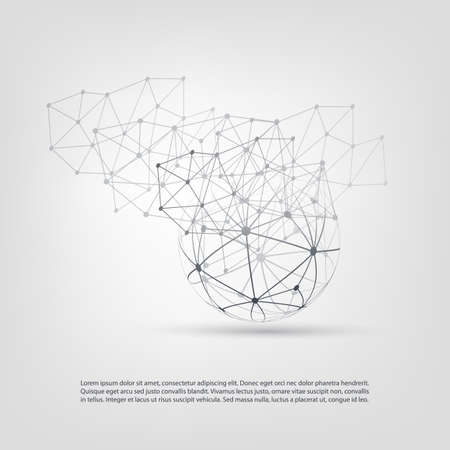 peer to peer: Cloud Computing y Redes Concepto Diseño Vectores