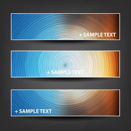 background designs: Set of Horizontal Banner or Cover Background Designs - Brown, Blue, Orange Colors
