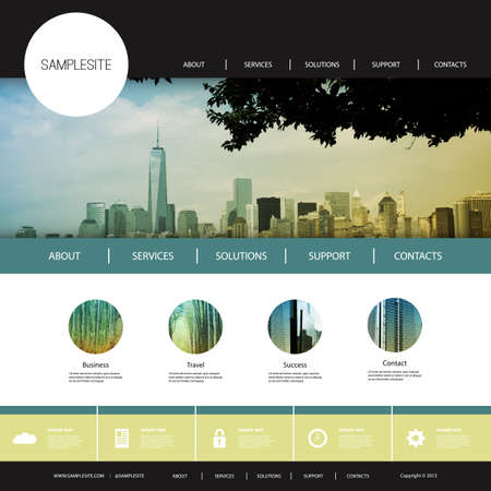 city skyline: Website Design for Your Business with City Skyline Background