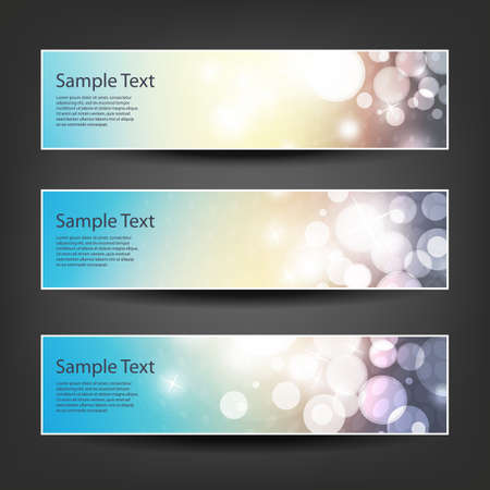 background colors: Set of Horizontal Banner or Header Background Designs - Colors: Blue, Brown, White - For Party, Christmas, New Year or Other Holidays, Ad Templates