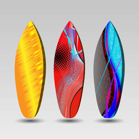 Surfboards Design with Abstract Pattern