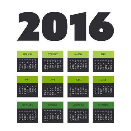 calendar design: 2016 Simple Calendar Design