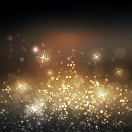 stars: Sparkling Cover Design Template with Abstract Blurred Background