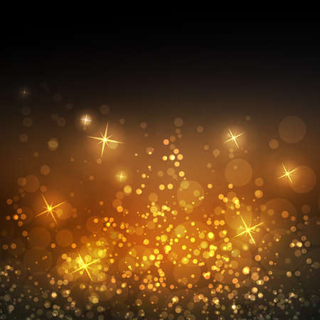 Sparkling Cover Design Template with Abstract Blurred Background for Christmas, New Year Designs