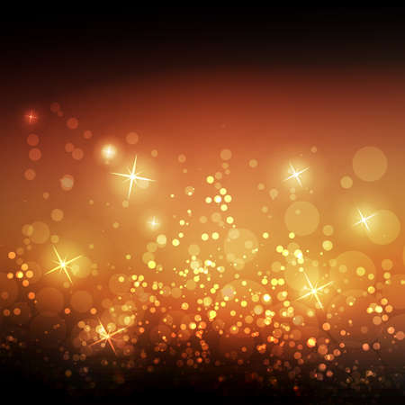 gold brown: Sparkling Cover Design Template with Abstract Blurred Background for Christmas, New Year Designs