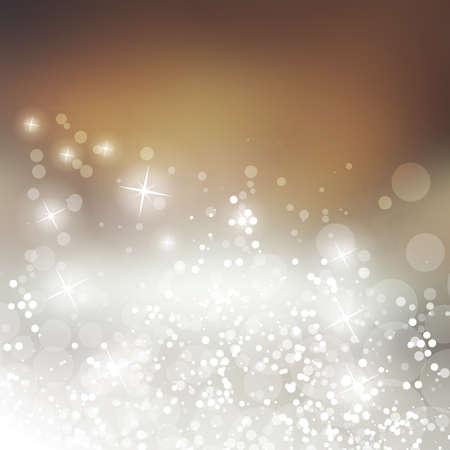 bokeh background: Sparkling Cover Design Template with Abstract Blurred Background for Christmas, New Year Designs