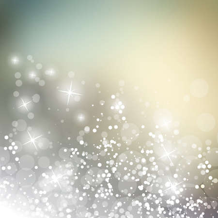silver star: Sparkling Cover Design Template with Abstract Blurred Background for Christmas, New Year Designs