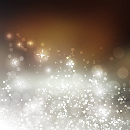new years background: Sparkling Cover Design Template with Abstract Blurred Background for Christmas, New Year Designs