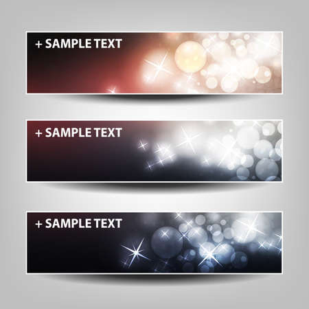 white party: Set of Horizontal Banner or Header Background Designs - Colors:  Black, Pink, White - For Party, Christmas, New Year or Other Holidays, Ad Templates