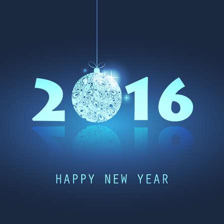 new ball: New Year Card - 2016 Illustration