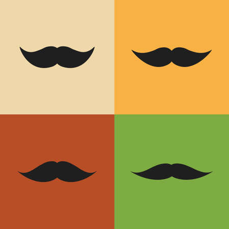 rogue: Vintage Mustache Designs Vector Clip-Art
