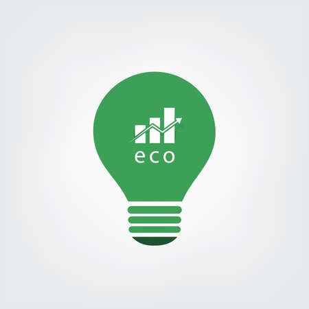 technological: Green Eco Energy Concept Icon - Economic Growth Illustration
