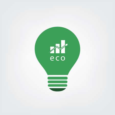 eco energy: Green Eco Energy Concept Icon - Economic Growth Illustration