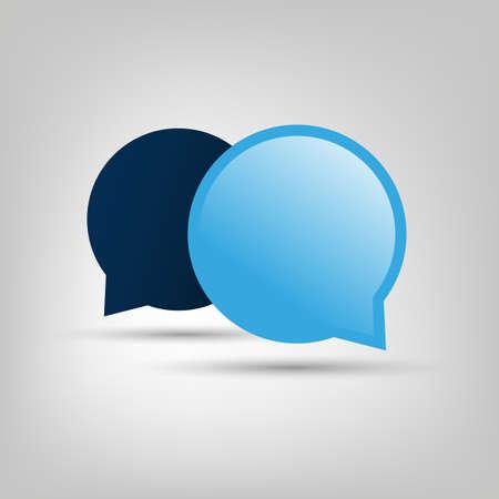 blue bubbles: Chat, Conversation Design Concept - Blue Speech Bubbles with Copy Space Illustration