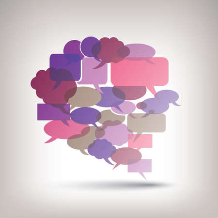 Big Speech Bubble Made from Colorful Small Bubbles