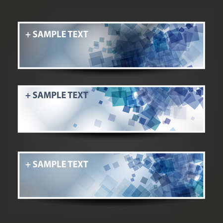 web banner: Set of Horizontal Abstract Banner Background Designs,  Ad Templates