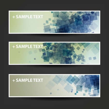 background designs: Set of Horizontal Abstract Banner Background Designs,  Ad Templates