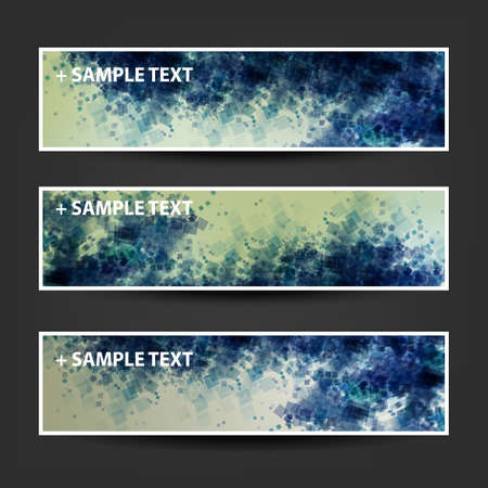 ad: Set of Horizontal Abstract Banner Background Designs,  Ad Templates