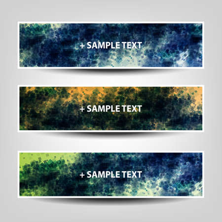 Set of Horizontal Abstract Banner Background Designs,  Ad Templates