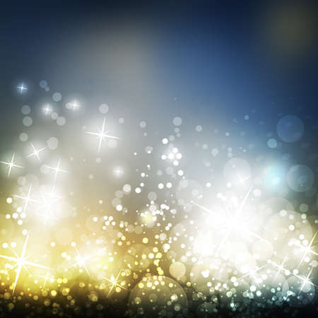 gold silver: Sparkling Cover Design Template with Abstract Blurred Background For Christmas, New Year