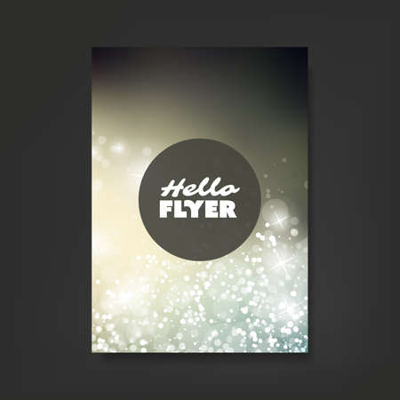 flyer: Flyer, Card or Cover Design with Sparkling Pattern Background - Corporate Identity, Christmas, New Year or Ad Design Template