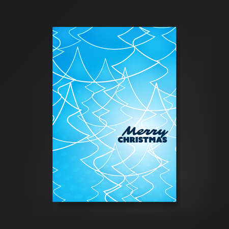 gift of hope: Christmas Flyer or Cover Design With Blue Pattern