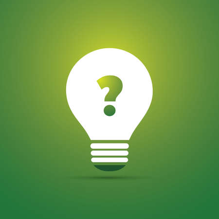 go inside: Sustainable Life - Do You Have Questions - Bulb Icon Concept Design