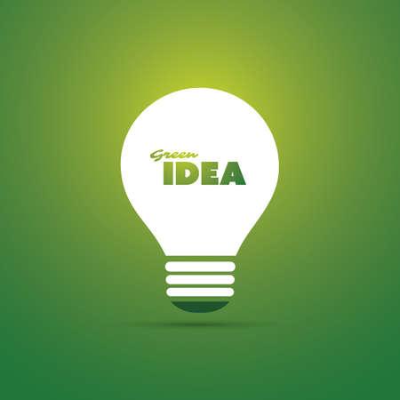 bulb light: Green Idea Concept Design - Bulb Icon