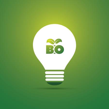 green power: Bio Energy Concept Design - Bulb Icon